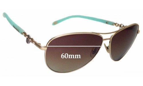 Sunglass Fix Sunglass Replacement Lenses for Tiffany & Co TF 3034 - 60mm Wide