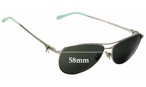 Sunglass Fix Sunglass Replacement Lenses for Tiffany & Co TF 3044 - 58mm Wide