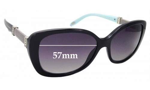 Sunglass Fix Sunglass Replacement Lenses for Tiffany & Co TF 4106-B - 57mm Wide