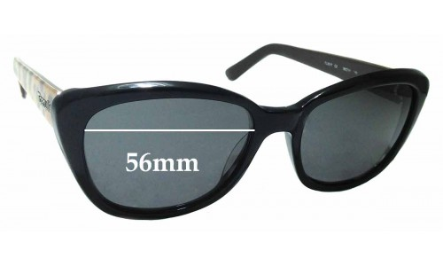Sunglass Fix Sunglass Replacement Lenses for Tiger Lilly TL3017 - 56mm Wide