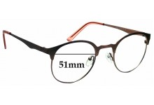 Sunglass Fix Sunglass Replacement Lenses for TIJN 11500 - 51mm Wide
