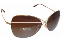 b13f9a0282 Sunglass Fix Sunglass Replacement Lenses for Tom Ford Colette TF250 - 63mm  wide