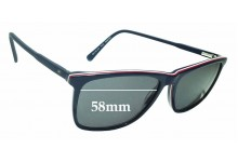 Sunglass Fix Sunglass Replacement Lenses for Tommy Hilfiger TH 81 - 58mm Wide