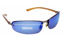 Sunglass Fix Sunglass Replacement Lenses for Tommy Hilfiger TH 8020 - 66mm Wide