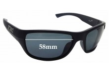 Sunglass Fix Sunglass Replacement Lenses for Tonic Rush- 58mm Wide