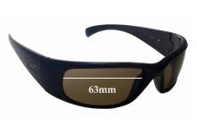 Sunglass Fix Sunglass Replacement Lenses for Tonic Spirit - 63mm Wide