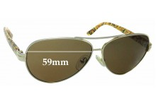 Sunglass Fix Sunglass Replacement Lenses for Tory Burch TY6031 - 59mm Wide