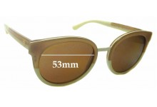 Sunglass Fix Sunglass Replacement Lenses for Tory Burch TY7062 - 53mm Wide