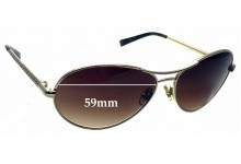 Sunglass Fix Sunglass Replacement Lenses for Tory Burch TY6002 - 59mm Wide