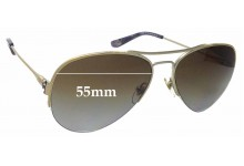 Sunglass Fix Sunglass Replacement Lenses for Tory Burch TY6038 - 55mm Wide