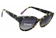 Sunglass Fix Sunglass Replacement Lenses for Triwa Thelma - 51mm Wide