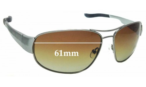 Sunglass Fix Sunglass Replacement Lenses for Ugly Fish PT24077 - 61mm Wide