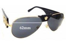 263ee99f26 Sunglass Fix Sunglass Replacement Lenses for Versace MOD 2150-Q 62mm wide