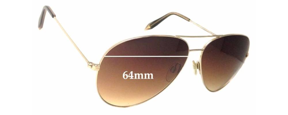 Sunglass Fix Sunglass Replacement Lenses for Victoria Beckham 0157 - 64mm Wide
