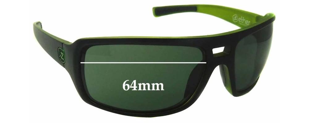 99a1400659 Von Zipper Hammerlock Sunglass Replacement Lenses - 64mm wide ...