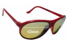 Sunglass Fix Sunglass Replacement Lenses for Vuarnet Pouilloux 085 62mm Wide