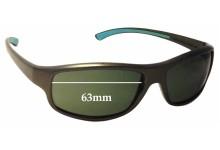 Sunglass Fix Sunglass Replacement Lenses for Vuarnet Pouilloux REF120 - 63mm Wide