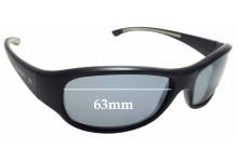 Sunglass Fix Sunglass Replacement Lenses for Vuarnet Pouilloux REF121 - 63mm Wide