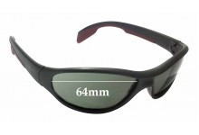 Sunglass Fix Sunglass Replacement Lenses for Vuarnet Pouilloux VL0109 - 64mm Wide