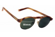 Sunglass Fix Sunglass Replacement Lenses for Warby Parker Bates - 46mm Wide