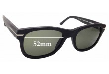 Sunglass Fix Sunglass Replacement Lenses for Wewood Crux 49 - 52mm Wide