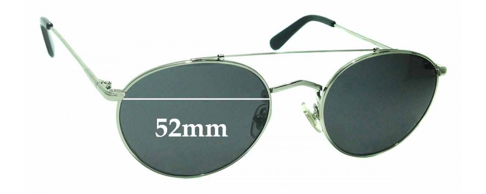 Sunglass Fix Sunglass Replacement Lenses for Wonderland Indio - 52mm Wide