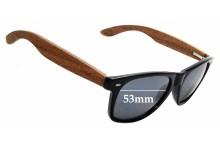 Sunglass Fix Sunglass Replacement Lenses for Woodies Wayfarer - 53mm Wide