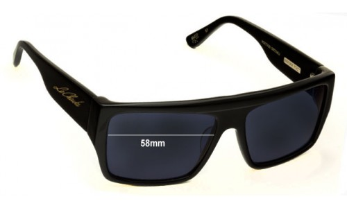 Sunglass Fix Sunglass Replacement Lenses for Colabs Le Cheuks OKs - 58mm Wide