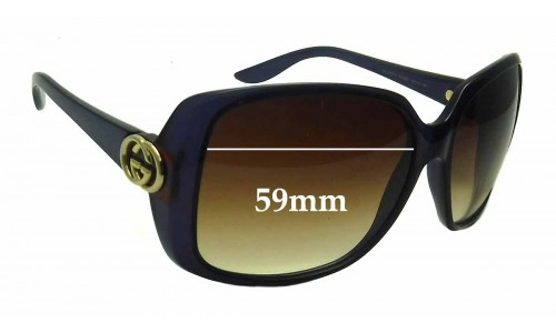 Sunglass Fix Sunglass Replacement Lenses for Gucci 3166/S - 59mm wide