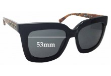 Sunglass Fix Sunglass Replacement Lenses for Michael Kors Polynesia MK2013 - 53mm Wide