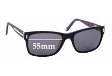 Sunglass Fix Sunglass Replacement Lenses for Alex Perry AP Sun Rx 01 - 55mm Wide