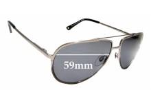 Sunglass Fix Sunglass Replacement Lenses for Alex Perry AP Sun RX 07 - 59mm Wide