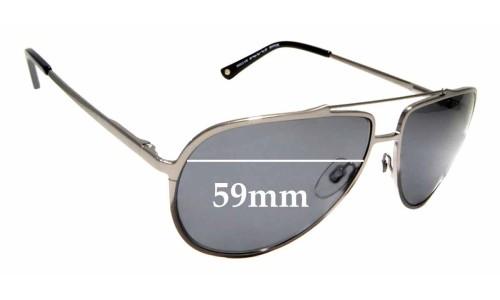 Sunglass Fix Sunglass Replacement Lenses for Alex Perry AP Men Sun RX 07 - 59mm wide