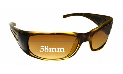Sunglass Fix Sunglass Replacement Lenses for Arnette Hold Up AN4139 - 58mm Wide