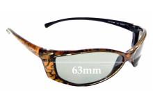 Sunglass Fix Sunglass Replacement Lenses for Arnette RAJ1214AA AN1015 - 63mm Wide