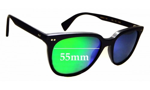 Sunglass Fix Sunglass Replacement Lenses for Article One Walton - 55mm Wide