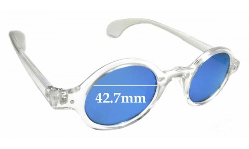 Sunglass Fix Sunglass Replacement Lenses for Beison 3020 - 43mm Wide