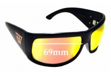 Sunglass Fix Sunglass Replacement Lenses for Black Flys Fly Coca - 69mm Wide