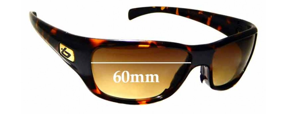 dac64b3aa0 Sunglass Fix Sunglass Replacement Lenses for Bolle Crown - 60mm wide ...