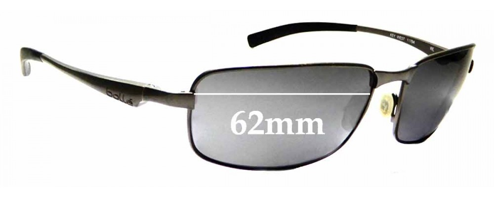21e574e509 Sunglass Fix Sunglass Replacement Lenses for Bolle Key West - 62mm Wide