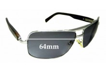 Sunglass Fix Sunglass Replacement Lenses for Brioni Real Horn Cor2 - 64mm Wide