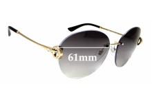 Sunglass Fix Sunglass Replacement Lenses for Bvlgari 6091-B - 61mm Wide