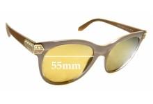 Sunglass Fix Sunglass Replacement Lenses for Bvlgari 8185-B - 55mm Wide