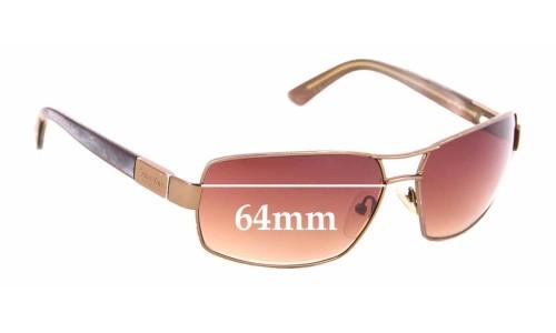 Sunglass Fix Sunglass Replacement Lenses for Calvin Klein CK916S - 64mm Wide