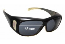 Sunglass Fix Sunglass Replacement Lenses for Cancer Council Australia Jervis - 63mm Wide