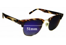 Sunglass Fix Sunglass Replacement Lenses for Cancer Council Australia Atherton - 51mm Wide