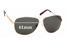 Sunglass Fix Sunglass Replacement Lenses for Cancer Council Australia BroadBeach - 61mm Wide