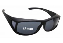 Sunglass Fix Sunglass Replacement Lenses for Cancer Council Australia Culburra - 63mm Wide
