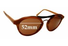 Sunglass Fix Sunglass Replacement Lenses for Carla Zampatti Sun Rx 06 - 52mm Wide