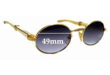 Sunglass Fix Sunglass Replacement Lenses for Cartier Giverny T8100103 - 49mm Wide